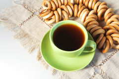 Tea and bagels Royalty Free Stock Images