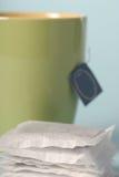 Tea bags. Closeup of tea bags Royalty Free Stock Photos