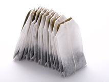 Tea bags. Close-up of tea bags on white Royalty Free Stock Photo
