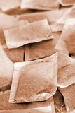 Tea bags. Several tea bags, colorized in brown color Royalty Free Stock Photo