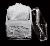 jar of tea bags Stock Photo