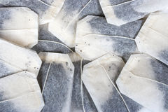 Tea bags background Stock Photo