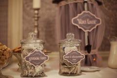Tea bags in a jar Royalty Free Stock Photos