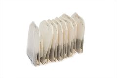 Tea Bags On Isolated Background Stock Images