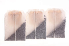 Tea bags on a white background Stock Image