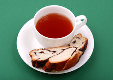 Tea with a bakery Stock Photo