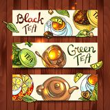 Tea banners Royalty Free Stock Photos