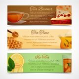 Tea banners set Royalty Free Stock Photos