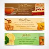 Tea banners set Royalty Free Stock Photos