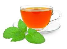 Tea with basil Royalty Free Stock Image