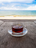 Tea on the beach Stock Image