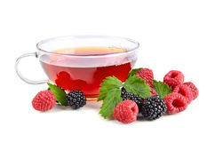 Tea with berries Stock Photography