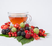 Tea with berry Royalty Free Stock Photo