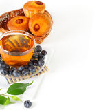 Tea, berry and muffins Royalty Free Stock Image