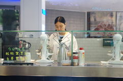Tea beverage shop Stock Photography