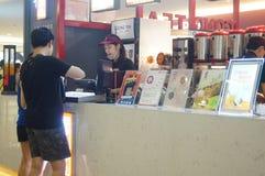 Tea beverage shop Royalty Free Stock Image