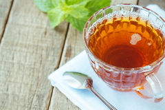 Tea beverage on wood Royalty Free Stock Photography
