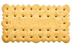 Tea Biscuit. Isolated On White Stock Photo