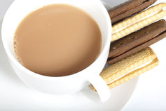 Tea and biscuits Royalty Free Stock Photo