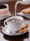 Tea with biscuits Royalty Free Stock Image