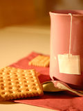 Tea and biscuits Stock Image