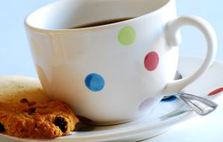 Tea and biscuits. A shot of tea and biscuits at breaktime Stock Photos