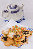 Tea biscuits - Biscotti da te' Royalty Free Stock Photos