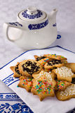 Tea biscuits - Biscotti da te' Royalty Free Stock Image