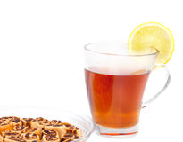 Tea with biscuits box Royalty Free Stock Photography
