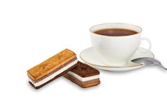 Tea Biscuits and Cup Stock Photography