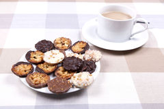 Tea and biscuits royalty free stock photography