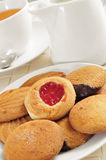 Tea and biscuits Stock Photo