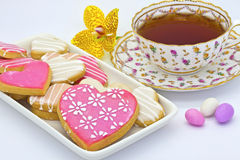 Tea and biscuits. Stock Image