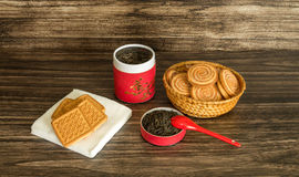 Tea and  biscuits Stock Photos
