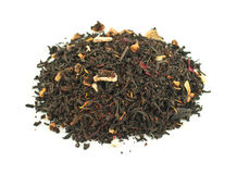 Tea, black, red orange Royalty Free Stock Photos