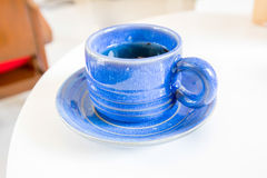 Tea in blue cup Royalty Free Stock Image