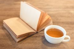 Tea and Book Stock Image
