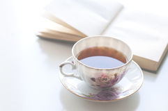 Tea and book Royalty Free Stock Images