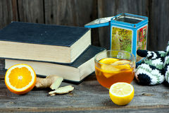 Tea and books Royalty Free Stock Image