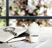 Tea Books Window Royalty Free Stock Images