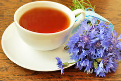 Tea with bouquet Royalty Free Stock Photo