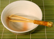 Tea bowl and whisk Stock Photos