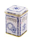 Tea box. White tea oriental metal box Royalty Free Stock Photos