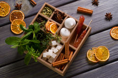 Tea box. Royalty Free Stock Image