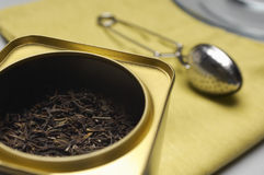 Tea Box And Strainer Stock Photography