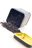 Tea box with tea Royalty Free Stock Images