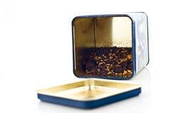 Tea box with tea Royalty Free Stock Image
