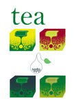 Tea boxes Royalty Free Stock Photos