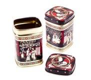 Tea boxes on the white background Royalty Free Stock Image