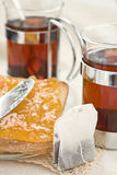 Tea bread and jam Royalty Free Stock Image